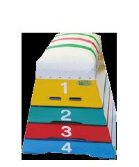カラー跳び箱 小型4段(T-24)